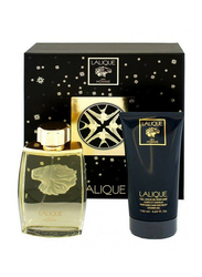 Lalique 2-Piece Pour Homme Gift Set for Men, 125ml EDP, 150ml Shower Gel
