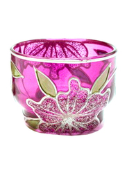 Libra 5cm Tea Light Indoor/Outdoor Candle Holder, 2-Pieces, Purple/Gold