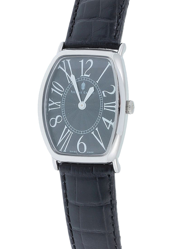 Prestige Analog Unisex Watch with Leather Band, Water Resistant, 21176 3P-NR, Black