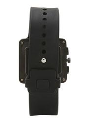Issey Miyake Vakio Analog Unisex Watch with Rubber Band, ISM60006, Black-Purple
