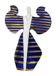 Cmielow Angel Girl Indoor Figurine, Gold/White/Blue