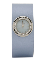Regnier Analog Watch for Women with Leather Band, Water Resistant, PG123D, Light Blue
