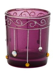 Libra Tea Light Indoor/Outdoor Candle Holder Set, 2-Pieces, Purple