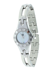 Zoom Muse Analog Watch for Women with Stainless Steel Band, Water Resistant, ZOM601, Silver-White