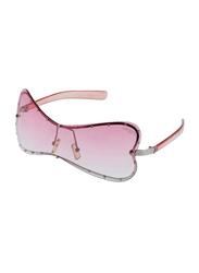 Lancaster Polarized Full Rim Butterfly Sunglasses for Women, Pink Lens, JR464, 60/25/120