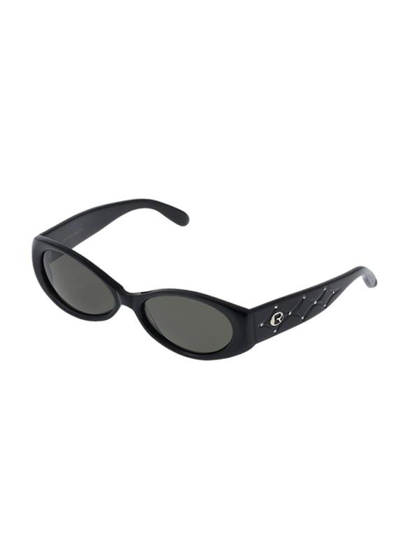 Rochas Full Rim Oval Sunglasses for Women, Grey Lens, 930501, 110/11/130