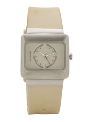 Issey Miyake Vakio Analog Unisex Watch with Rubber Band, ISM60087, Beige