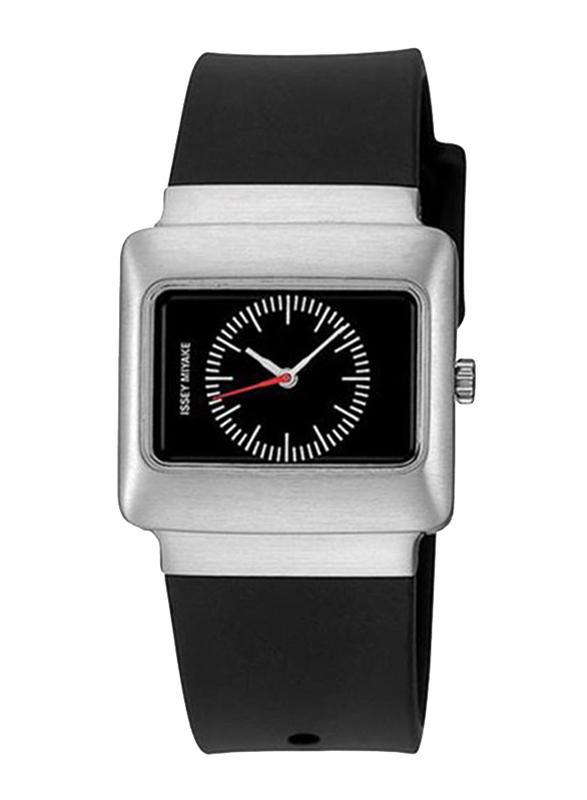 Issey Miyake Vakio Analog Unisex Watch with Rubber Band, ISM60170, Black