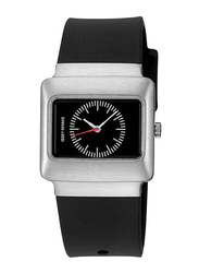 Issey Miyake Vakio Analog Unisex Watch with Rubber Band, ISM60170, Black