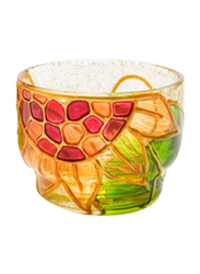 Libra Tea Light Indoor/Outdoor Candle Holder Set, 2-Pieces, Red/Orange/Green