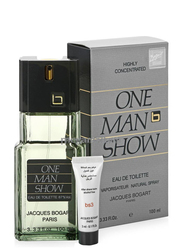 Jacques Bogart 2-Piece One Man Show Gift Set for Men, 100ml EDT, 3ml After Shave Balm