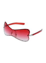 Lancaster Polarized Full Rim Butterfly Sunglasses for Women, Red Lens, JR354, 60/25/120