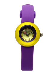 Appetime Lollipop Analog Watch for Women with Rubber Band, Water Resistant, SVC010004, Purple-Gold