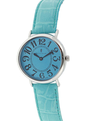 Prestige Analog Watch for Women with Leather Band, Water Resistant, 21174 3P-BUB, Blue