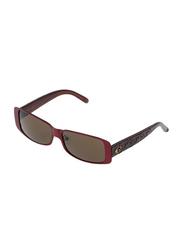 Rochas Full Rim Rectangular Sunglasses for Women, Brown Lens, 930803, 120/11/130