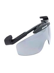 Swans Polarized Rimless Sport Glasses for Men, Smoke Grey Lens, CP100, 70/25/130