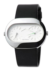 Issey Miyake Vakio Analog Unisex Watch with Rubber Band, Water Resistant, ISM60158, Black-White