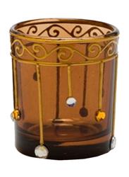 Libra 7cm Tea Light Indoor/Outdoor Candle Holder, 2-Pieces, Brown