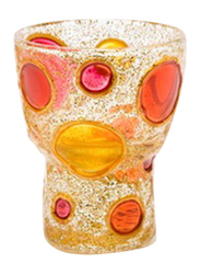 Libra Tea Light Indoor/Outdoor Candle Holder Set, 2-Pieces, Red/Yellow/White