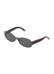 Rochas Full Rim Oval Sunglasses for Women, Grey Lens, 930902, 110/11/130