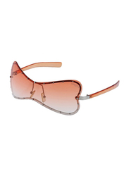 Lancaster Polarized Full Rim Butterfly Sunglasses for Women, Orange Lens, JO244, 60/25/120