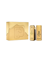 Paco Rabanne 2-Piece 1 Million Gift Set for Men, 100ml EDT, 150ml Deo Spray