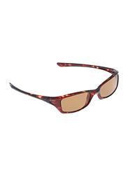 Swans Polarized Full Rim Rectangular Sunglasses for Men, Brown Lens, PD80P, 60/15/140