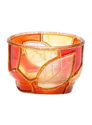 Libra 5cm Tea Light Indoor/Outdoor Candle Holder, 2-Pieces, Red/Orange