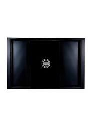 NGA 54cm Wood Ware Lacquer Serving Tray With Handle, LTR543, Black