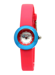 Appetime Analog Watch for Women with Rubber Band, Water Resistant, SVC010003, Pink-Blue