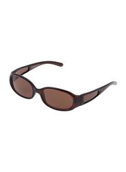 Rochas Full Rim Oval Sunglasses for Women, Brown Lens, 909440, 70/11/140