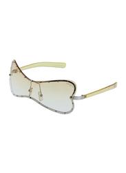 Lancaster Polarized Full Rim Butterfly Sunglasses for Women, Yellow Lens, JY276, 60/25/120