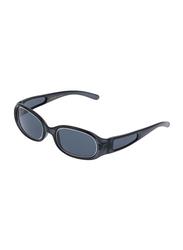 Rochas Full Rim Oval Sunglasses for Women, Grey Lens, 909442, 100/11/140