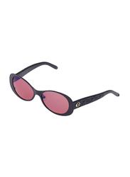 Rochas Full Rim Oval Sunglasses for Women, Pink Lens, 930906, 110/11/140