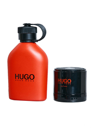 Hugo Boss 2-Piece Red Gift Set for Men, EDT 125ml, Portable Speaker