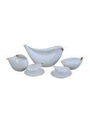 Cmielow 21-Pieces Porcelain Ina Coffee Set, CMI63101, White/Gold