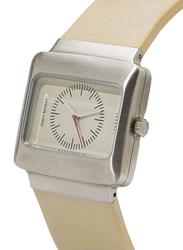Issey Miyake Vakio Analog Unisex Watch with Rubber Band, ISM60087, Beige