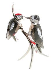 Swarovski Memories Woodpeckers Diamond Figurine Indoor Decorative Accents, Clear
