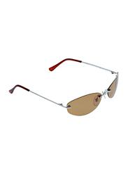 Swans Polarized Rimless Oval Sunglasses for Men, Brown Lens, GC044P, 60/20/120