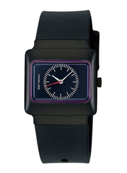 Issey Miyake Vakio Analog Unisex Watch with Rubber Band, ISM60002, Black