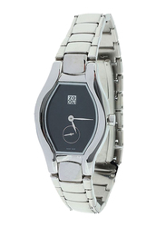 Zoom Muse Analog Watch for Women with Stainless Steel Band, Water Resistant, ZOM604, Silver-Black
