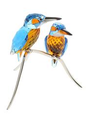 Swarovski Memories Kingfishers Paradise Figurine Indoor Decorative Accents, Turquoise