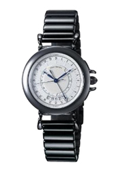 Issey Miyake Analog Unisex Watch with Stainless Steel Band, ISM60164, Black-White