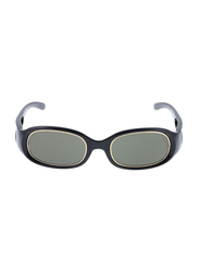 Rochas Full Rim Oval Sunglasses for Women, Grey Lens, 909401, 100/11/130