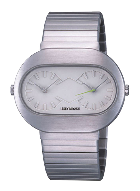 Issey Miyake Vakio Analog Unisex Watch with Stainless Steel Band, Water Resistant, ISM60159, Silver-White