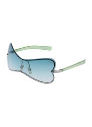 Lancaster Polarized Full Rim Butterfly Sunglasses for Women, Blue Lens, JBU555, 60/25/120