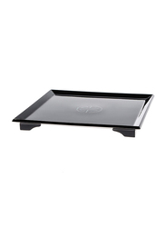 NGA 22cm Wood Ware Lacquer Serving Tray, LTR524B, Black
