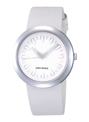 Issey Miyake Vakio Analog Unisex Watch with Rubber Band, Water Resistant, ISM60154, White