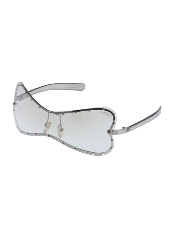 Lancaster Polarized Full Rim Butterfly Sunglasses for Women, Clear Lens, SG209, 60/25/120