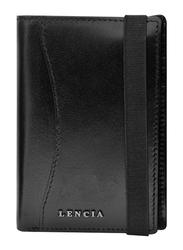 Lencia Leather Bi-Fold Wallet for Men, LMW-15989-B, Black